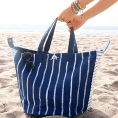 Get a handle on Summer with our new oversized canvas carryall! And we do mean carry ALL. This thing is huge! http://chloeandisabel.com/boutique/samfoster