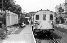 Mitcham Train Station Mitcham Surrey England in the 1980's