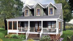 House Plan 52817 |  Plan with 1214 Sq. Ft., 3 Bedrooms, 2 Bathrooms