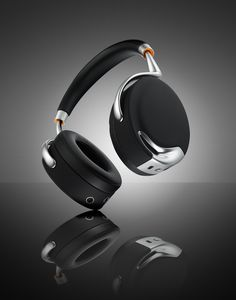 PARROT ZIK BY STARCK | NFC, active noise cancellation, touch-activated gesture control, jawbone sensor, dedicated speech microphone, pressure-sensitive head detection on these premium cans