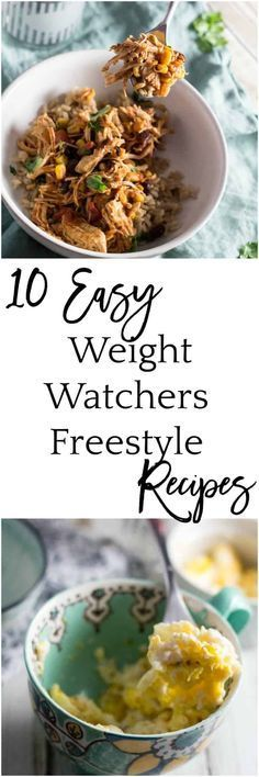 Ten Easy Weight Watchers Freestyle Recipes via @dashofherbs