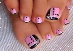 unas azules - Buscar con Google French Pedicure, Manicure And Pedicure, Gel Nails, Nail Polish, Neon Toe Nails, Beach Toe Nails, Flower Toe Nails, Flower Pedicure, Glitter Toe Nails