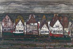 Egon Schiele, Haeuser am Meer (Houses by the sea), 1914