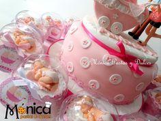 cupcakes de torta de baby shower, elaborado por MONICA PASTAS Y DULCES.