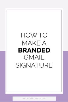 When it comes to branding your general e-mail (not your newsletters) you  can find yourself a little limited. The very best way to do it is to  implement a branded signature.
