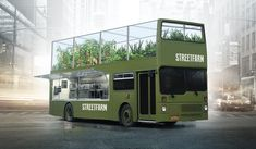 StreetFarm - a concept for a new kind of food truck: cooking with fresh vegetables right from the roof.