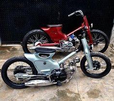 Honda Cub customs.