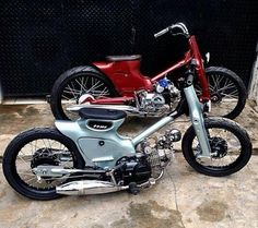 Honda Cub customs.