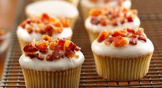 Bacon Maple Cupcakes #bacon #maple