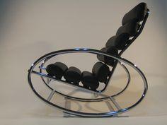 cadeira de balanço de metal