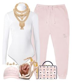 """""""B A B Y"""" by oh-aurora ❤ liked on Polyvore featuring October's Very Own, MCM, Wolford, Samantha Wills, River Island, Pink, mcm, TOMFORD, babypink and ovo"""