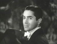 Tyrone Power in Alexander's Ragtime Band (1938)  Born	Tyrone Edmund Power, Jr.  May 5, 1914  Cincinnati, Ohio, U.S.  Died	November 15, 1958 (aged 44)  Madrid, Spain  Cause of death	Heart attack
