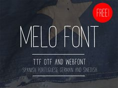 Melo free font