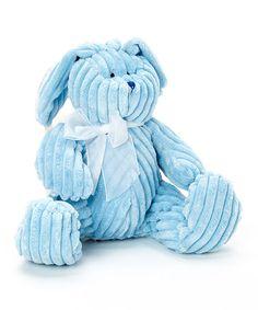 Look at this #zulilyfind! Blue Corduroy Wabbit Plush Toy by Stephan Baby #zulilyfinds