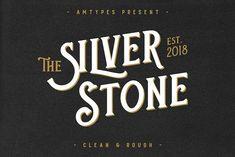 Silver Stone Font + Bonus by Angga Mahardika on @creativemarket