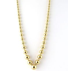 """Cartier 18K Yellow Gold Perles De Laureato Graduated Bead Necklace 1999 16"""" in Jewelry & Watches, Fine Jewelry, Fine Necklaces & Pendants, Precious Metal without Stones 