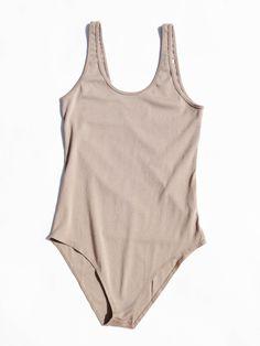 Calder Bianca Bodysuit - Sand