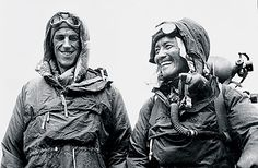SIR EDMUND HILLARY & TENZING NORGAY New Zealand mountaineer, explorer and philanthropist and Nepali Sherpa mountaineer. They were the first climbers confirmed as having reached the summit of Mount Everest, on May Machu Picchu, Auckland, Nepal, Trekking, Mount Everest, Le Tibet, Top Of The World, Mountaineering, New Zealand