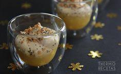Estos vasitos de foie y compota de manzana serán el aperitivo ideal para una comida o cena de Navidad.