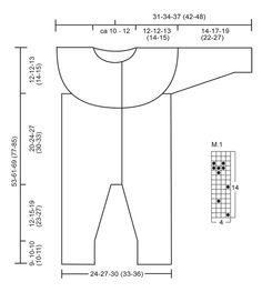 "Winter Wonder - Knitted DROPS one piece jumpsuit in ""BabyAlpaca Silk"". - Free pattern by DROPS Design"