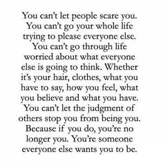 Just be yourself.