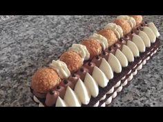Trancio cremoso al cioccolato.Con questo trancio ho unito la cremosità del mascarpone e della meringa all'italiana con il croccante del cioccolato