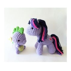 Twilight Sparkle and Spike Crochet by IndigoHeartBox on Etsy, $75.00