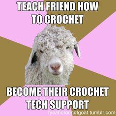 Funck Yeah Crochet Goat  http://fyeahcrochetgoat.tumblr.com/