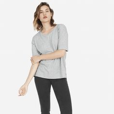 The Cotton Drop-Shoulder Tee - Everlane