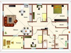 Grundriss EG - Variante 4 Zimmer
