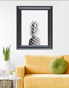 Youngsters Area Home Furnishings A Monochromatic Pineapple Print With A Vintage Vibe From Kns Digital. Boho Living Room Decor, Decorating Your Home, Diy Home Decor, Kitchen Prints, Pineapple Print, Wall Decor, Wall Art, Poster Prints, Wall Prints
