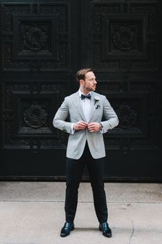 We love the grey and black combo: http://www.stylemepretty.com/2015/02/17/modern-black-white-chicago-wedding/ | Photography: T&S Hughes - http://www.tandshughesphotography.com/