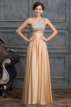 Elegantní společenské šaty zlaté