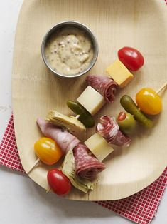 Italian Hoagie on a Stick low-carb/paleo-friendly idea to bring to game day party