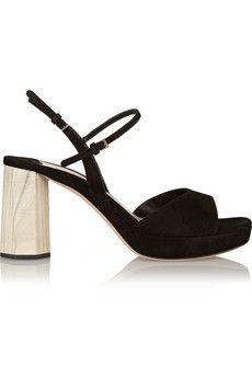 Miu Miu Suede sandals   NET-A-PORTER
