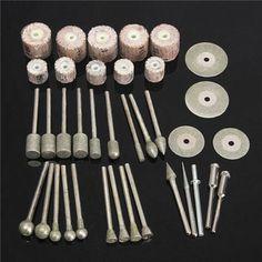 38pcs Assorted Sanding Grinding Polishing Rotary Tool Accessory Set for Dremel #Affiliate