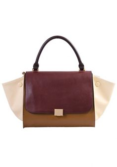 Dangerous Love Top Handle Bag Brown With Cream