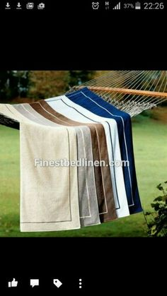 Yves Delorme deck towels from Home & Yacht Finest Bed Linen. Www.finestbedlinen.com