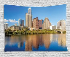 Ambesonne Apartment Decor Collection, View Of Austin, Texas Summertime Sunny Day Park Shores Waterscape View , Bedroom Living Room Dorm Wall Hanging Tapestry, 60W X 40L Inch >>> See this great product. (This is an affiliate link and I receive a commission for the sales)