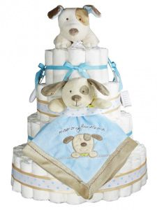 Gateau couches baby shower