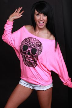 Sexy Skull Flowy Long Sleeve - LHDC Clothing