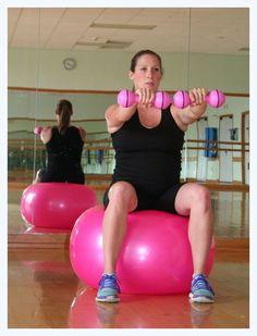 Pregnancy workout exercise ball