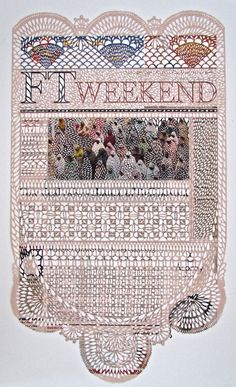 Canadian artist Myriam Dion cut images with talent. Using a scalpel, this student at the University of Quebec puts to harmony and uniqueness to her work of cut lace newspapers.