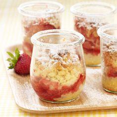 Rabarberkuchen aus dem Glas