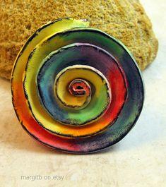 Rainbow Spiral Custom Order | por MargitB.