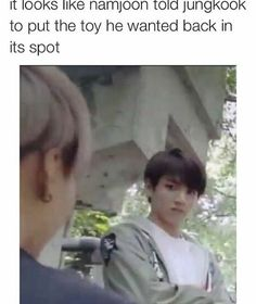 it looks like namjoon told jungkook to put the toy he wanted back in its spot