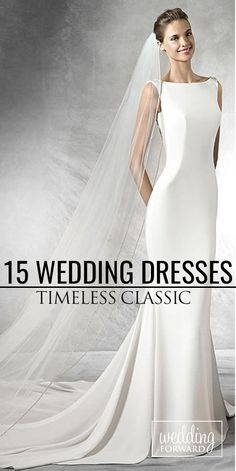 15 Classic Wedding Dresses You Can't Go Wrong With ❤ If you are not sure what wedding gown to choose, stop on the classic wedding dress. See more: http://www.weddingforward.com/classic-wedding-dresses-ideas/ #wedding #weddingdress #classicweddingdress #weddinggown #bride