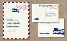 airmail invite by dear evie
