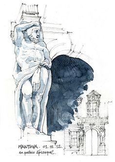Mantova, au Palais épiscopal / Gérard Michel