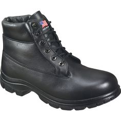 Thorogood Womens Soft Streets Black Leather 400G 6in Waterproof Sport Boot